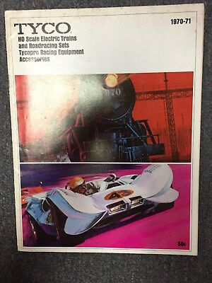 1970-71 Tyco Ho Scale Trains And Roadrace Set Catalog Shows Tyco Pro Slot Cars