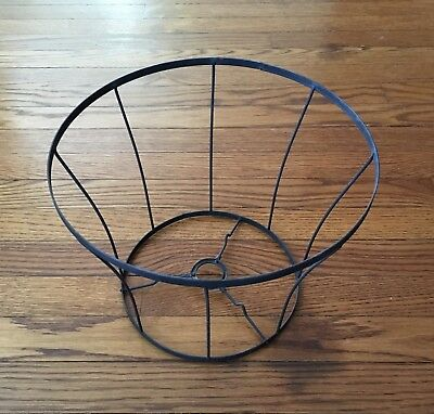 Vintage lamp shade wire frame large drum shape 185 x 10 diy vintage medium wire bell shaped lamp shade frame with uno fitter keyboard keysfo Image collections