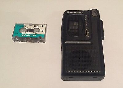 Panasonic Handheld Recorder RN-202. Fast Playback 2 Speed With Microcassette
