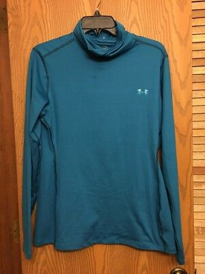 NEW UNDER ARMOUR Cold Gear Women's Top Teal Blue Aqua Extra Large Shirt Running