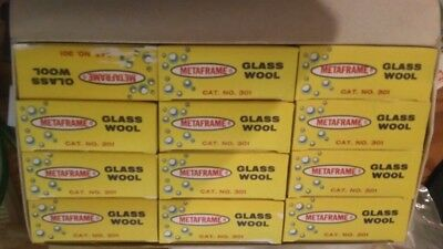 Vintage Case of Metaframe Glass Wool for Aquarium Filters New in Box Cat.No. 301