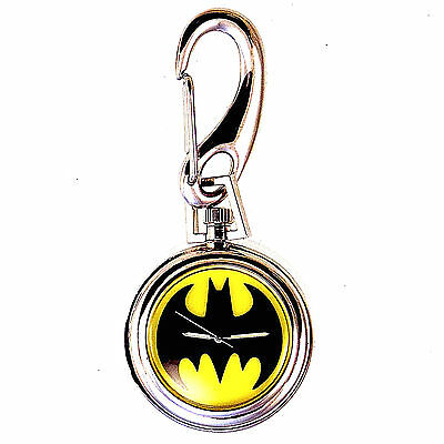 Batman Pocket Watch By Fossil, Warner Bros Collection, Light Up Dial Unworn $125