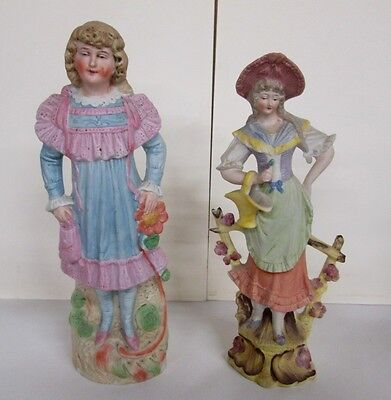 Pair Of Antique German Bisque Statues_C.1890-1910_Fine Pair Priced Under $50 Wow
