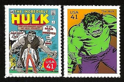 The Incredible Hulk #1 Bruce Banner Lou Ferrigno Marvel Superhero US Stamps MINT
