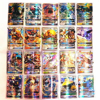 Hot Pokemon TCG : 100 FLASH CARD LOT RARE 20 GX+80 EX CARDS GIFTS FUSION CARD