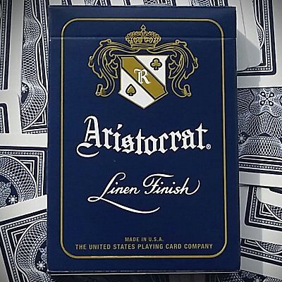 Aristocrat Blue Playing Cards Deck Poker Premium Linen Finish