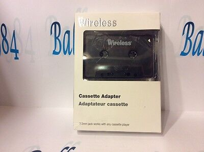 Just Wireless® Cassette  Adapter Listen Too Smart Phones, Mp3s Etc!