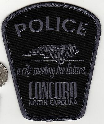 CONCORD Police Department Patch State of North Carolina CITY MEETING THE MEETING