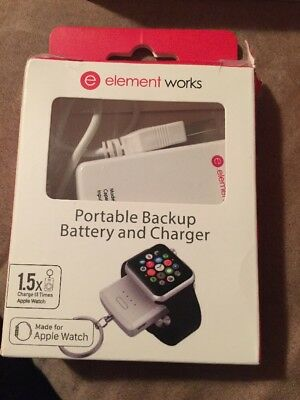 Element Works Apple Watch Portable Backup Battery and Charger- Apple Certifie...