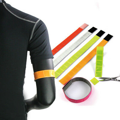 Reflective Cycling Arm Band Running Outdoors Safety Belt Wrist Leg Useful Straps