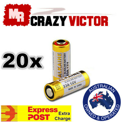 20x 23A 21/23 A23 23A 23GA 23AE 12V Alkaline Battery for Garage Car Remote Alarm