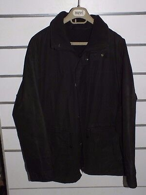 barbour a1560 black wax jacket   jacke waxed cotton    xl