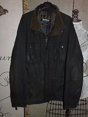 barbour wax utility a92 flyweight waxed cotton olive jacket  xl