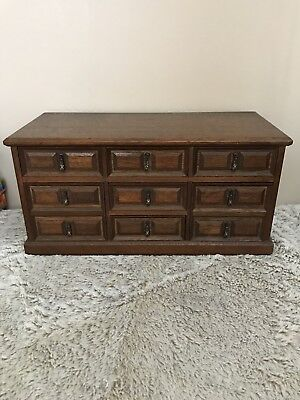 Vintage Large Wooden Jewelry Box