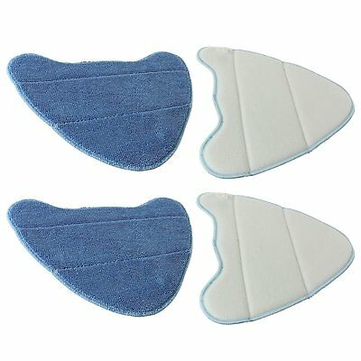SPARES2GO Washable Cover Pads for Dirt Devil DSS04-E01 DDS04-P01 11 in 1 Steam 4
