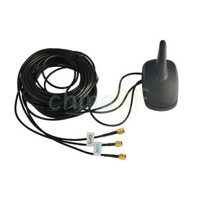 Car Top Roof Antenna Multi Band GPS WiFi GSM Antenna with SMA Male 3m Cable