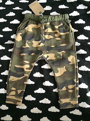 ZARA Baby Boys Camo Camouflage Leggings Trousers 12-18 Months BNWT Old Style