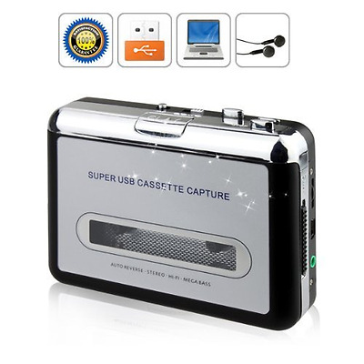 Portable Tape to PC Cassette-to-MP3 CD USB Converter Capture Digital Audio Music