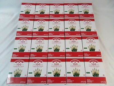 Lot of 20 Boxes HolidayTime 100count White Mini Lights Christmas Wedding Events