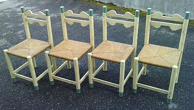 lot 4 chaises design moderniste art deco chaleyssin ? dudouyt ? modernist chair