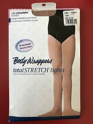 Full Footed Tights 8-14 Body Wrappers C80 White Girl/'s Size Medium//Large