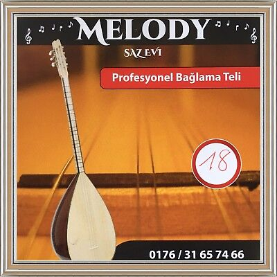Baglama Teli 0,18 Profi Strings  Saiten Kisa Sap short neck     Melody Saz