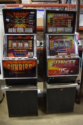 Pair of Slot Machines: Sunrise & Sunset Machines FOR PARTS/AS IS