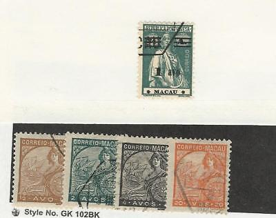 Macao, Postage Stamp, #259, 268, 270, 272, 281 Used, 1931-4 Portugal Colony