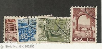 Macao, Postage Stamp, #345-347a Used, 1950 Portugal Colony