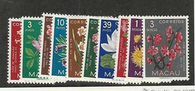 Macao, Postage Stamp, #372-381 VF Mint Hinged, 1953 Flowers Portugal Colony