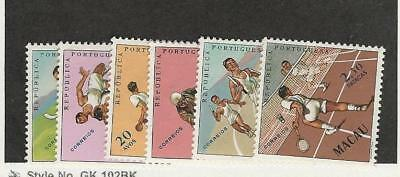 Macao, Postage Stamp, #394-399 Mint Hinged, 1962 Sports
