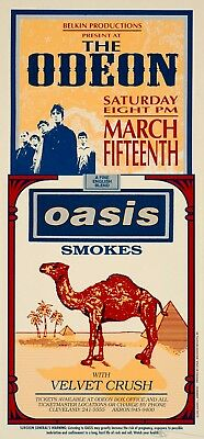 Oasis Concert POSTER Velvet Crush Art by Mark Arminski Signed
