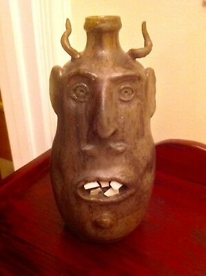 Robert Armfield Face Jug Devil Awesome Piece!