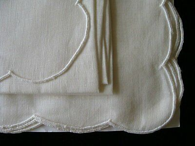 ELEGANT 16pc Vintage MADEIRA Linen Placemats Napkins UNUSED JABARA Label Ivory
