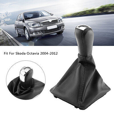 5 Speed Car Gear Stick Shift Knob Gaiter Lever For Skoda Octavia 2004-2012 WD