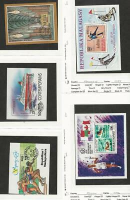 Malagasy, Postage Stamp, #1215, 1255, 1271, C151, C156 Used Sheets, 1975-94