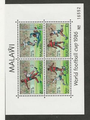 Malawi, Postage Stamp, #485a Mint NH Sheet, 1986 Soccer, Football