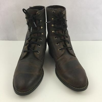 Vintage Durango Granny Ankle Boots Cowboy Western Brown Leather Lace Up  Women 6 2251991122