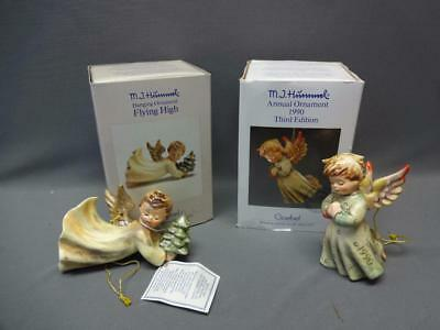2 Goebel Hummel Ornaments: 1988 First Flying High & 1990 3rd Peace on Earth Box