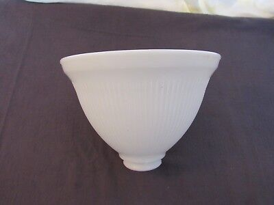 "Genuine Stiffel Milk Glass 8"" Torchiere Light lamp Shade Globe 2 1/8 Inch Fitter"