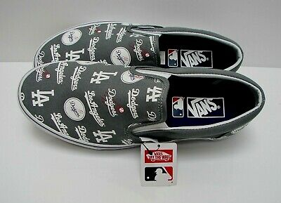 Vans Classic Slip On MLB Los Angeles Dodgers Grey VN0A38F7PQ0 Men s Size   10.5 c15eb2694