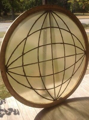 Rare Round Stained Glass Window