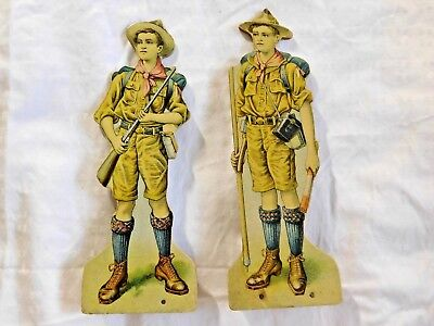 RARE Antique 1920's-30's BOY SCOUTS of AMERICA CARDBOARD STAND-UP DISPLAY SCOUTS