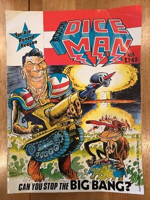 2000AD's Dice Man No 5 comic 1986 Fantasy Games Rpg Tsr