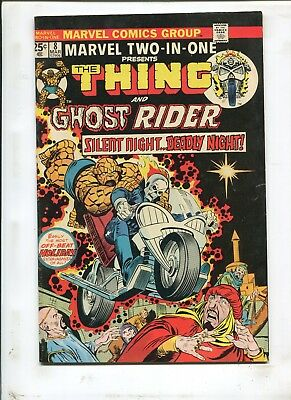 """Marvel Two-In-One #8 - """"the Thing And Ghost Rider!"""" - (6.5) 1974"""