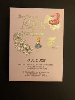 Rare Paul & Joe Alice in wonderland Disney Pink Lip treatment Set 2010 complete
