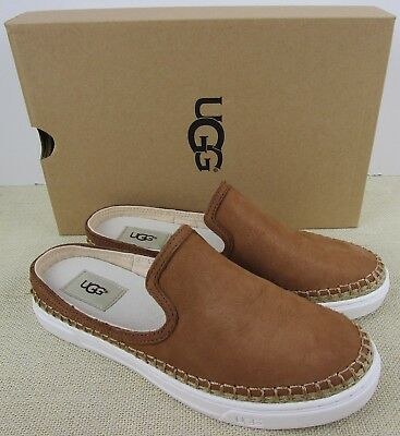 d4cab866320 UGG CALEEL CHE 1010102 Women's Leather Chestnut Slip On Shoes New In Box