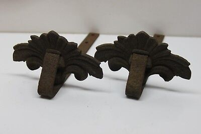 Set of 2 Decorative Vintage Cast Iron Roof Snowbirds Snow Guards - Newside PA