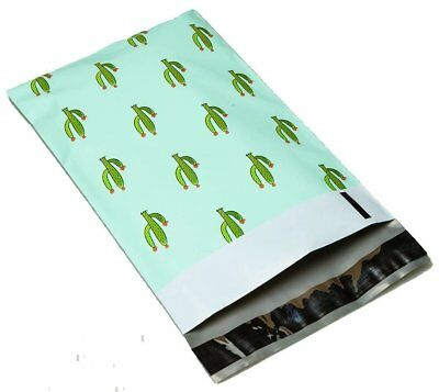50 6x9 Green Cactus #SmileMail Designer Poly Mailers Envelopes Bags