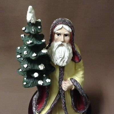 "Duncan Royale History Of Santa 12"" Kris Kringle Figure Music Box White Christmas"